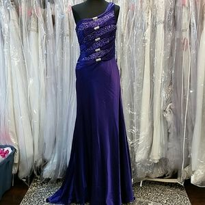 Terani Royal Purple Pageant Gown